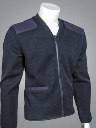 Fleece Lined V-Neck Zip Front