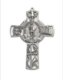 Cross with Saint Florian Center