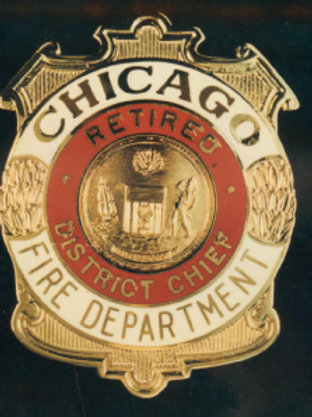 Retired Lucite Box District Chief Replica Badge