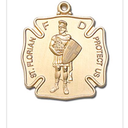 24K Gold Plate Saint Florian Charm