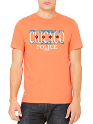 Distressed Chicago Police Shirt