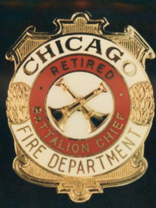 Retired Lucite Box Battalion Chief Replica Badge