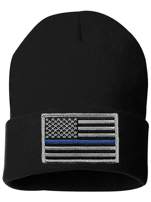 """Blue Line 12"""" KNIT CAP"""