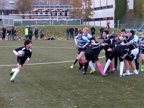Buona prestazione degli U14 del Rugby Lugano a Zurigo
