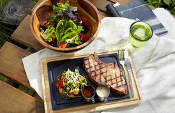 Smoked-Pork-Chop-&-Tomato-and-Pear-Salad-with-MixedBerry