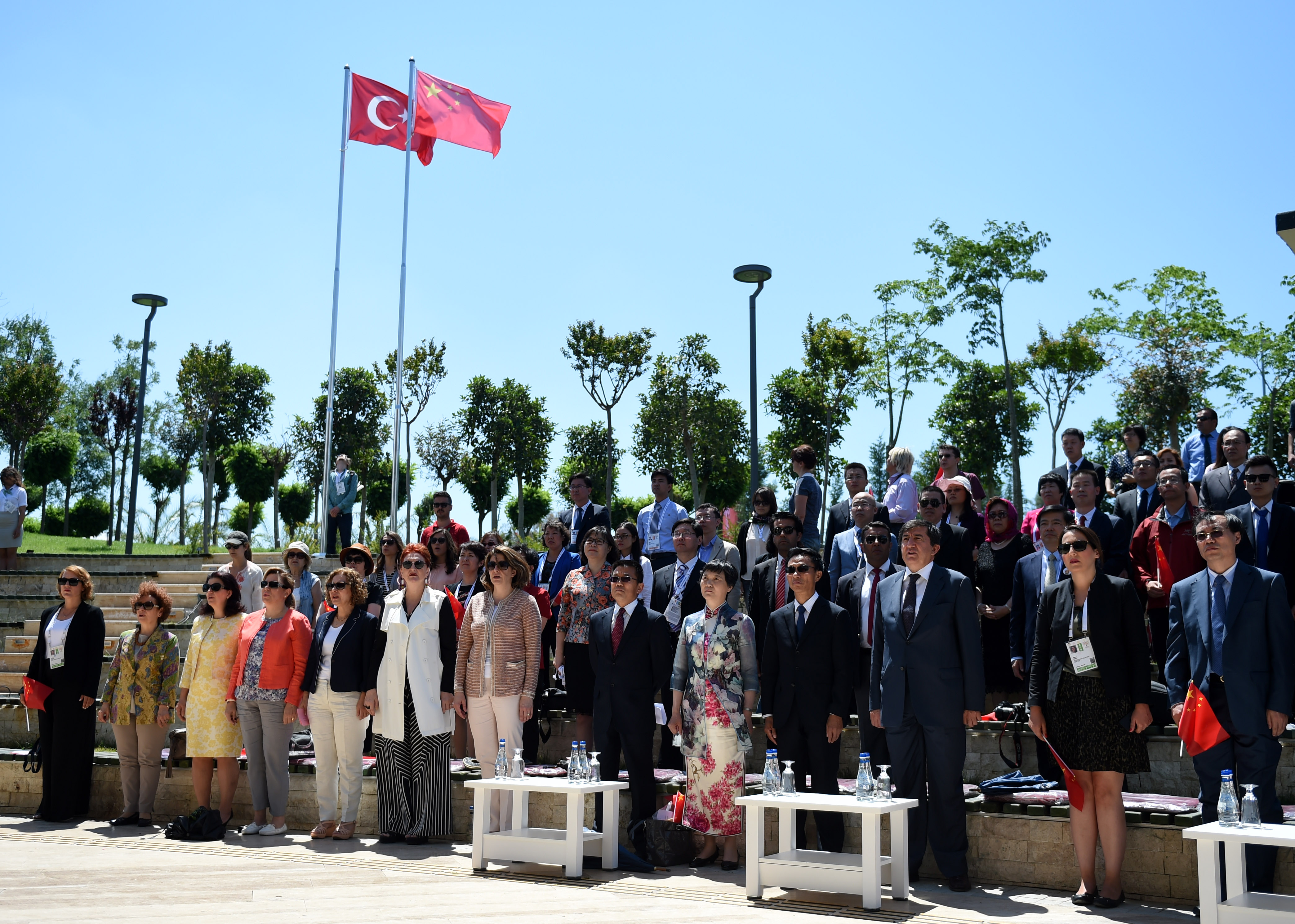 Flag-raising Ceremony on China National Pavilion D