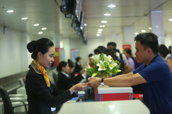 check-in counters for Vietjet