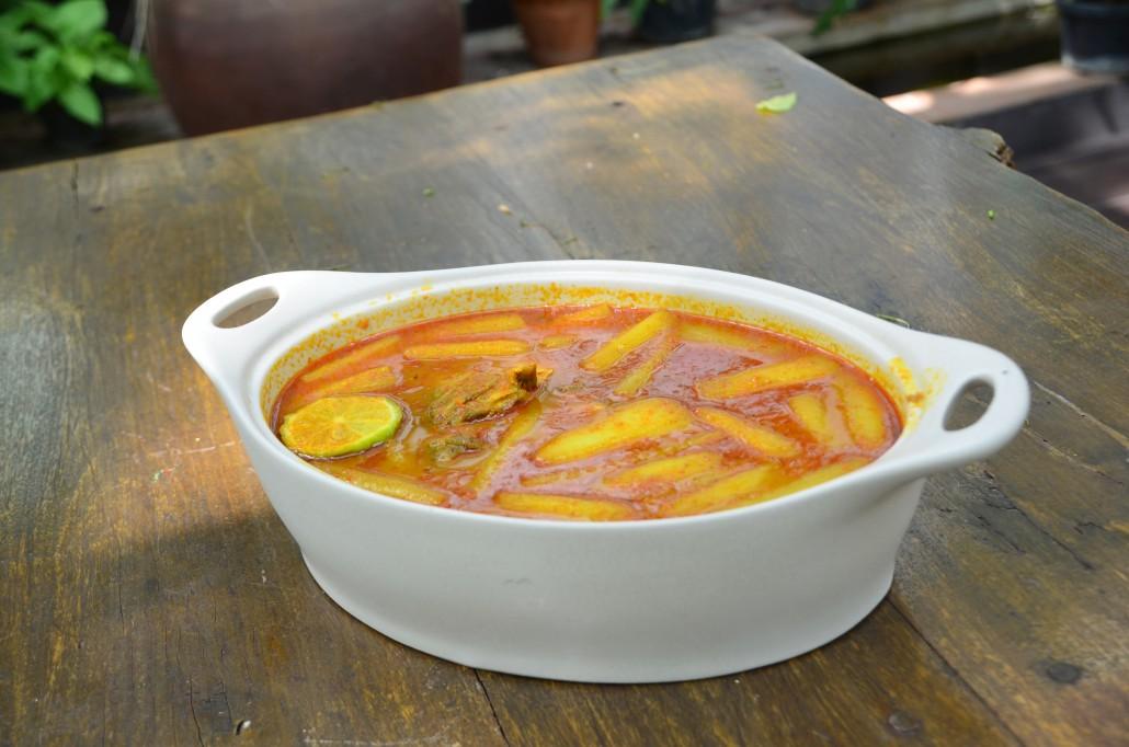 แกงส้มคูน ปลากะพง