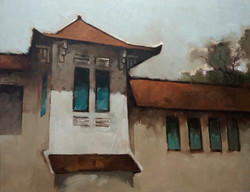 Nguyen Thanh Binh_Old House_Ngoi Nha Co_2016_Oil on canvas_100 x 130 cm