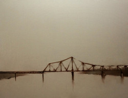 Nguyen Thanh Binh_Cau Long Bien_Long Bien Bridge_2016_oil on canvas_100 x 130 cm