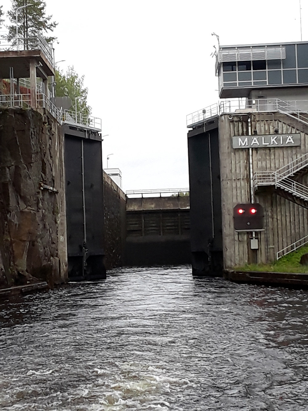 First lock on the Saimma Canal