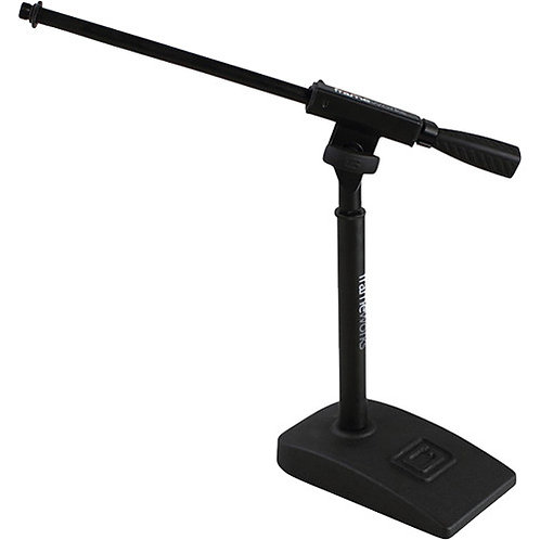 GATOR SHORT MIC STAND WITH SINGLE SECTION BOOM AND TWIST CLUTCH