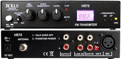 HR70 FM Broadcast Transmitter