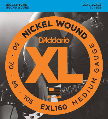 D'Addario Nickle Round Wound Bass Strings EXL160