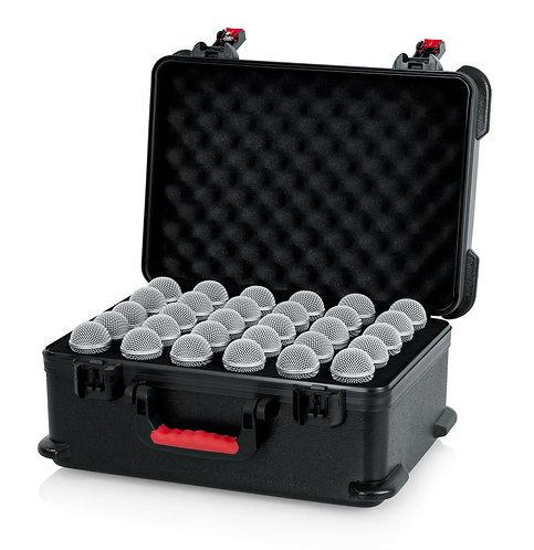 GATOR GTSA-MIC30 MOLDED CASE W/ DROPS FOR 30 MICS