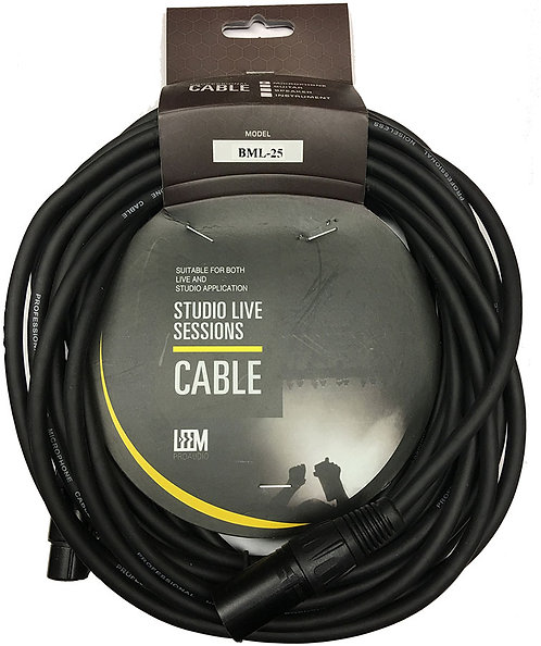Leem 25' Microphone Cable (XLR F - XLR M)