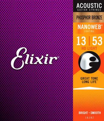Elixir E16182 - Acoustic Phosphor Bronze - HD Light with NANOWEB Coating