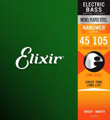 Elixir E14077 - Nickel Plated Steel Bass Set with NANOWEB Coating