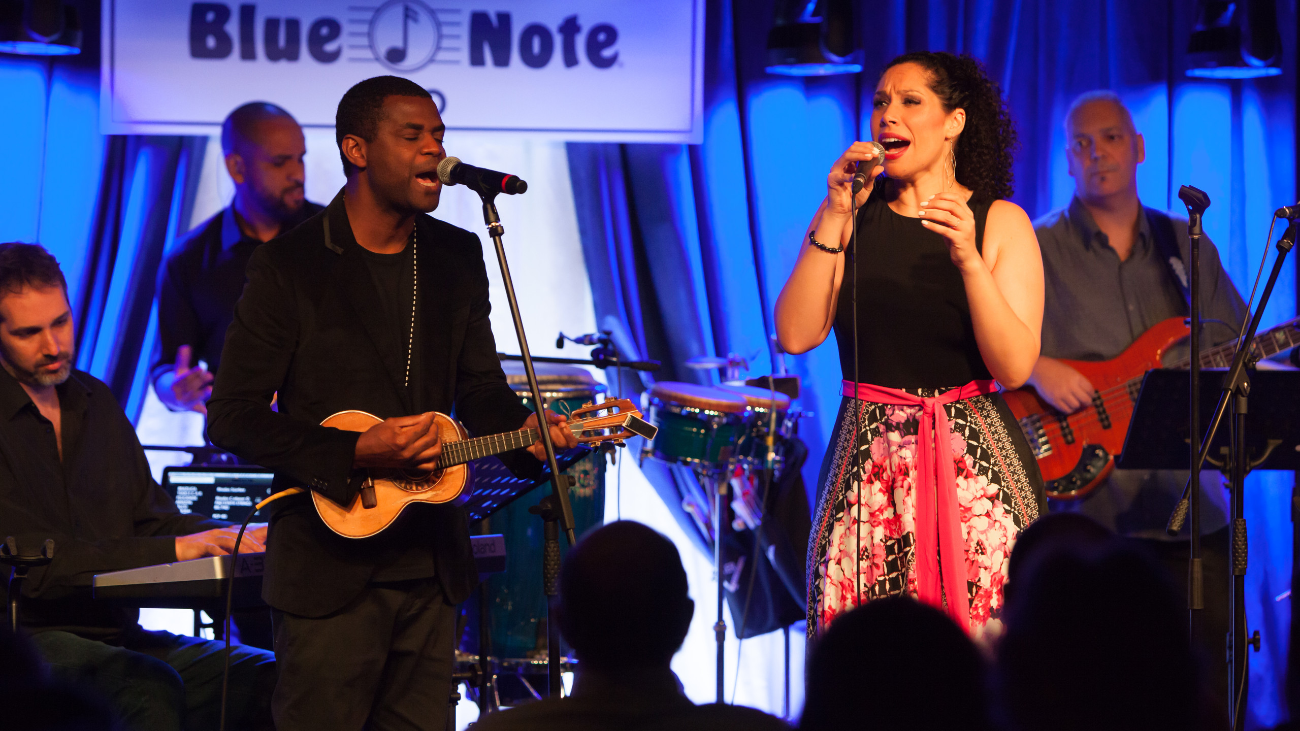 Alexandra and Pretinho at Blue Note