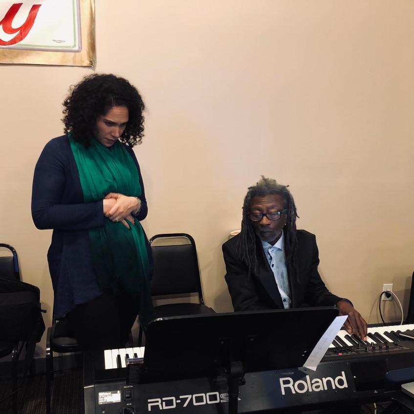 Alexandra with Robert Irving