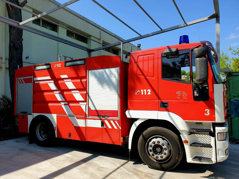 Fire truck side view
