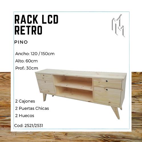 Rack LCD 120cm 2 Puertas, 2 Huecos y 2 Cajones