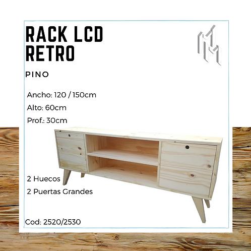 Rack LCD 120cm 2 Puertas y 2 Huecos