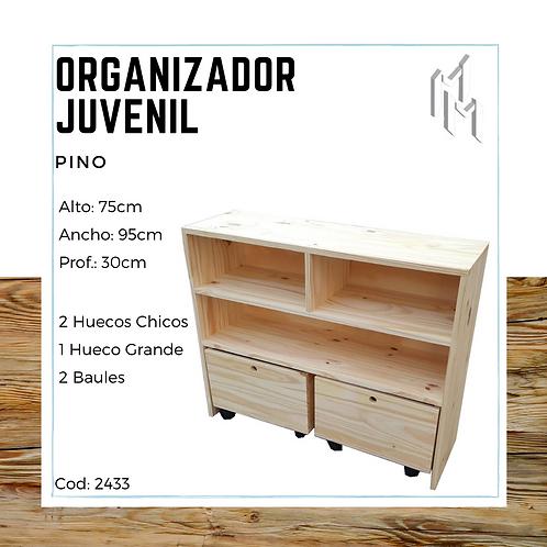 Organizador Juvenil Retro 95x30x75
