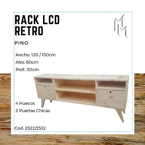 Rack LCD 120cm 2 Puertas, 2 Huecos y 2 Huecos Chicos