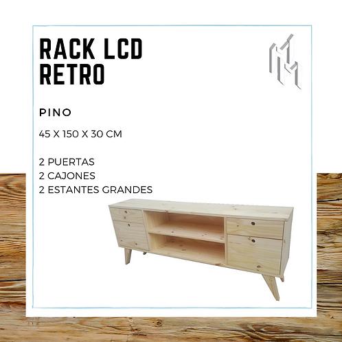 Rack LCD 150cm 2 Puertas, 2 Huecos y 2 Cajones
