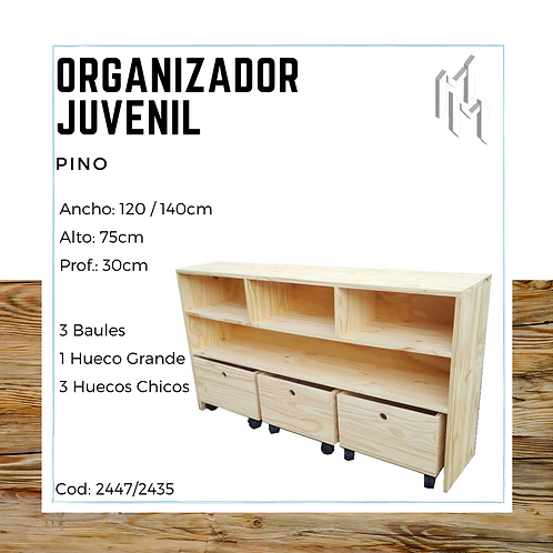 Organizador Juvenil Retro 140x75cm