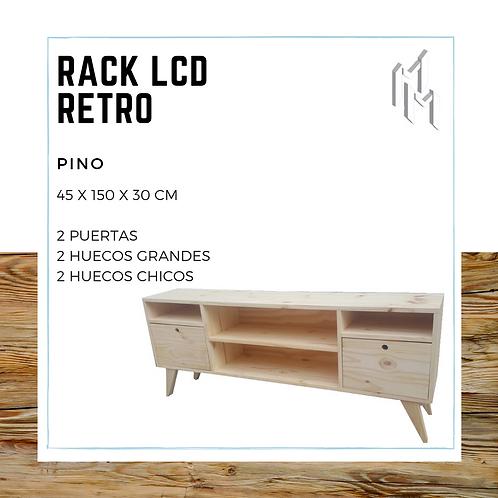 Rack LCD 150cm 2 Puertas, 2 Huecos y 2 Huecos Chicos