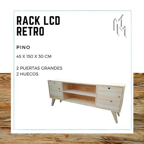 Rack LCD 150cm 2 Puertas y 2 Huecos