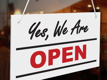 Yes, We Are Open!