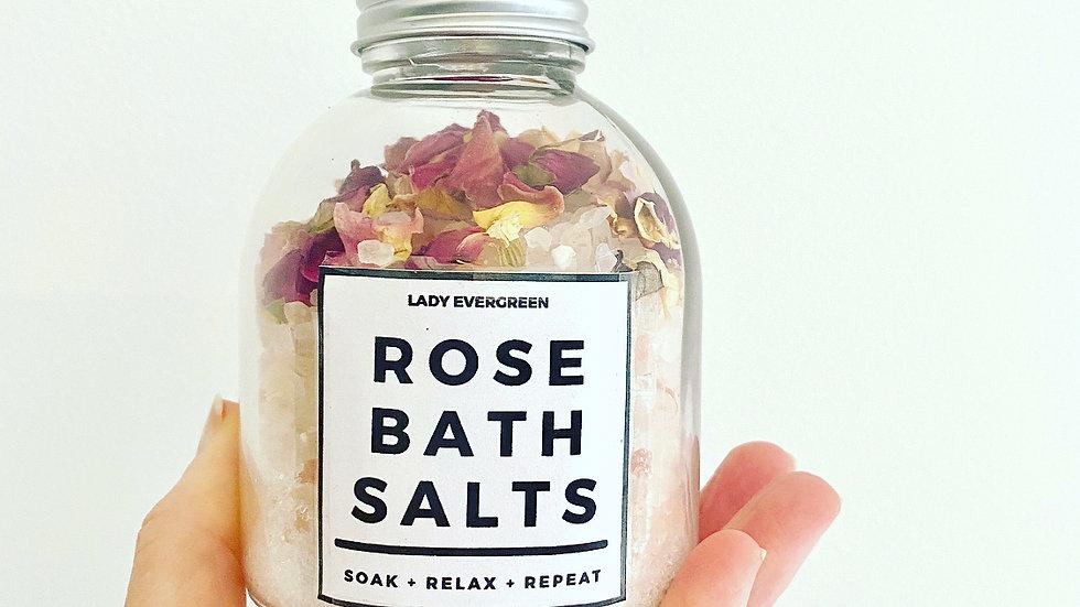 Rose Bath Salts - Soak . Relax . Repeat