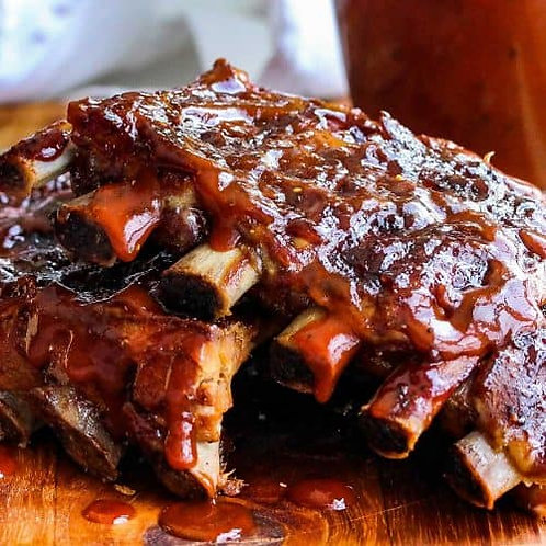 Jalapeno Peach St Louis Spare Ribs - order by the rack, please.