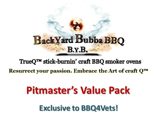 "Every TrueQ™ smoker comes with our Pitmaster's Value Pack (PVP) which includes:  •	Three (3) Maverick XR-50 digital themometers •	One (1) Maverick DF-10 thermometer Fork •	14"" x 14"" x 14"" raised charcoal basket w/ handle •	Custom Smoker and Firebox cover •	Two (2) Ash Shovels with 2' handles  •	Galvanized ash bucket •	Quick-ignite Propane Torch (tank not incl.) •	One (1) pair of Heat Resistant gloves •	100 drip-tray absorbent pads •	Re-useable or returnable 40"" x 40"" shipping container ($180 credit if returned) •	Free delivery of CMUs for build  •	On-line build and construction diagrams, including free 3-D software (down-loadable) •	6/12 on-line and live Pitmaster support •	Free 1-year membership in local BBQ4Vets National BBQ Club Chapter •	Free monthly e-Newsletter •	Free monthly Pod-cast sessions"
