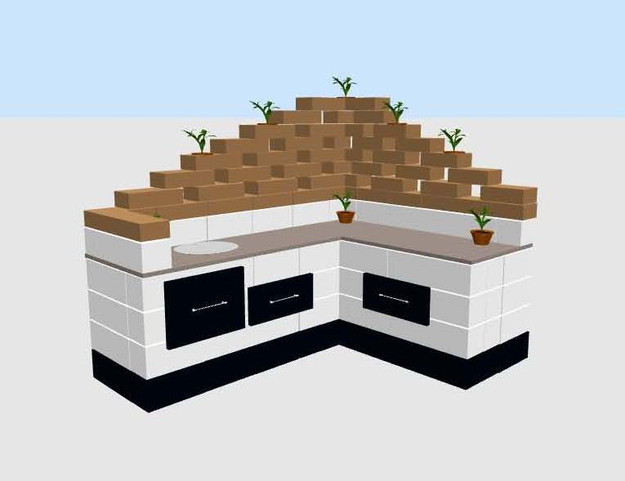 Build a CMU custom outdoor kitchen!