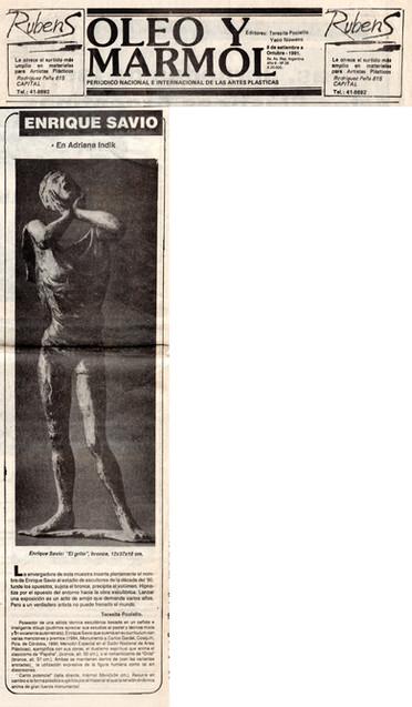 Diario Óleo y Mármol - El Grito – 08 de Septiembre de 1991
