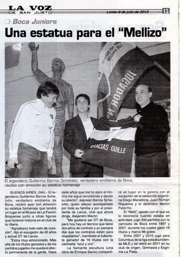 """La voz de San Justo – Monumento al """"Guille"""" - 08 de Julio de 2013"""