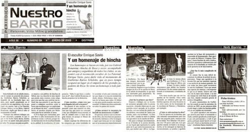 """Nuestro Barrio – Monumento al """"Guille"""" - Enero 2013"""