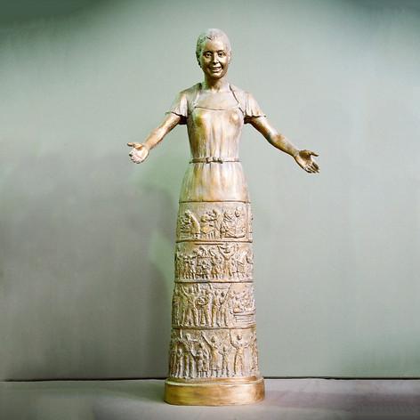 MAQUETA DEL MONUMENTO A EVA PERÓN.