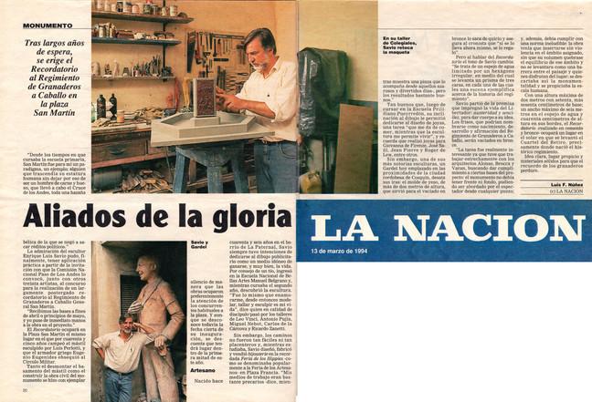 Diario La Nación – Regimiento Granaderos – 13 de Marzo de 1994