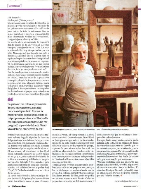 Diario El Guardián – Monumento a Perón – 09 de Febrero de 2012 - Parte 3