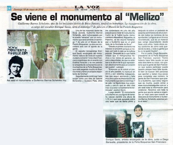 """La voz de San Justo – Monumento al """"Guille"""" - 19 de Mayo de 2013"""