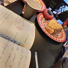 Étudier français dans un jour froid seul