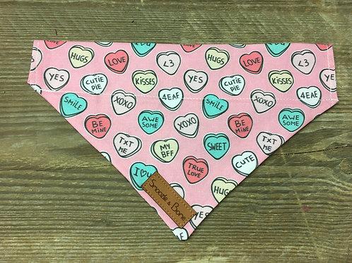 Pink Love Heart Bandana