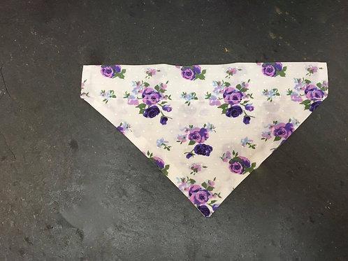 Purple floral bandana