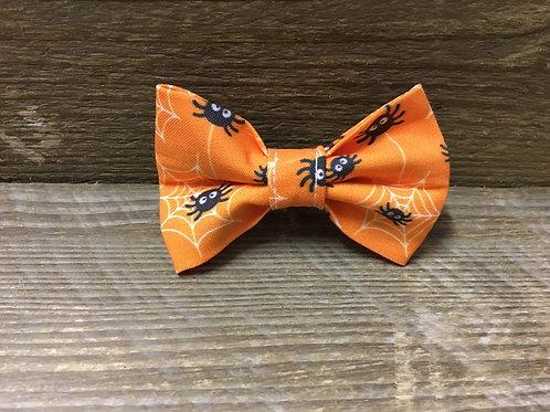 Orange Spider Bow Tie