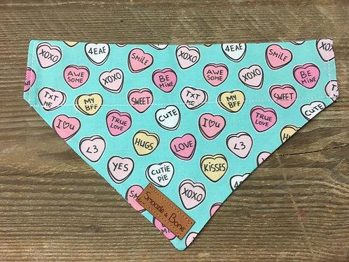 Blue love heart bandana
